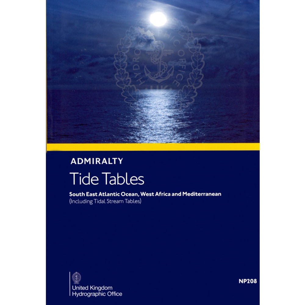 NP208 - Admiralty Tide Tables Vol.8 Mediterranean and Black Sea Ed.2018 - 2020